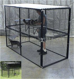 Enclosed Dog Kennel