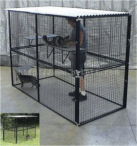 Top cats dog kennels and dog cages on pinterest for Best dog kennels for sale