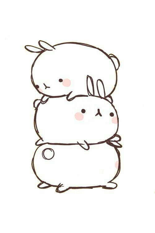 Pin By Tabarek Jm On Bts Rabbit Drawing Cute Drawings