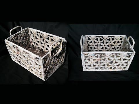 How To Make Basket From Newspaper / DIY Basket Making / Best Out Of Waste - YouTube