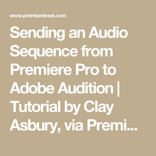 adobe premier pro how to make video sequence