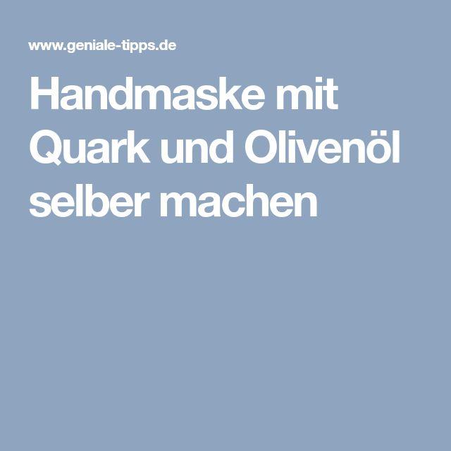 Handmaske mit Quark und Olivenöl selber machen