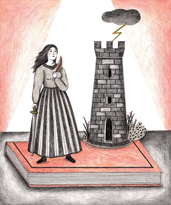 Alessandra De Cristofaro -SANTA BARBARA- matita e pastelli colorati su carta contact us: parione9@gmail.com