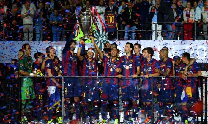 Barcelona beat Juventus 3-1 to win the Champions League – live! | Football | The Guardian