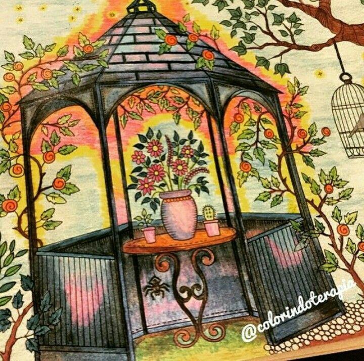 Jardim Secreto Gazebo Johanna Basford