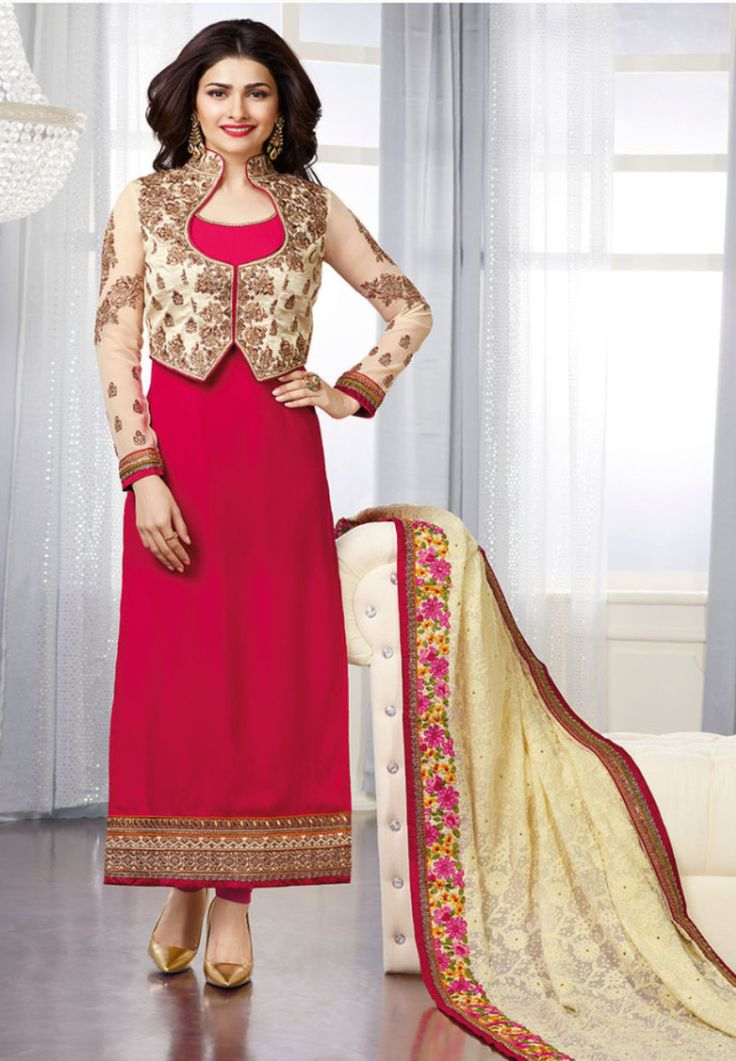 #Kaseesh #Prachi Indian #SalwarKameez Suit Vol17 3661 #Red