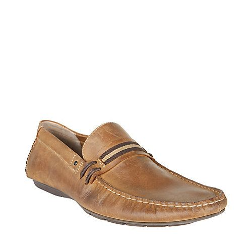 GRAB TAN LEATHER men's casual moc slip on - Steve Madden