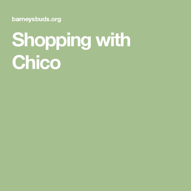 Shopping with Chico