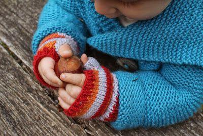 Fingerlose Fäustlinge fürs Kinde :: Eine Strick-Anleitung