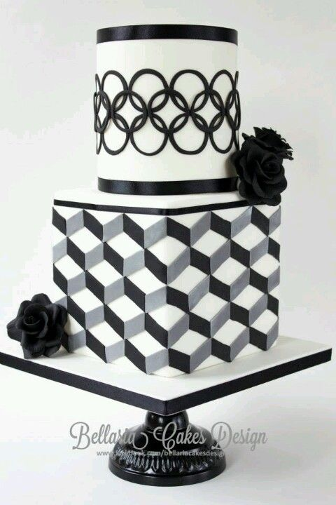 Wow beautiful modern cake