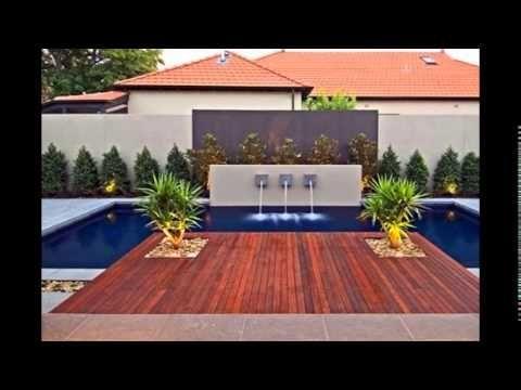 Diseño de Jardines Modernos con piscina HD-3D Arte y Jardinería - jardines modernos