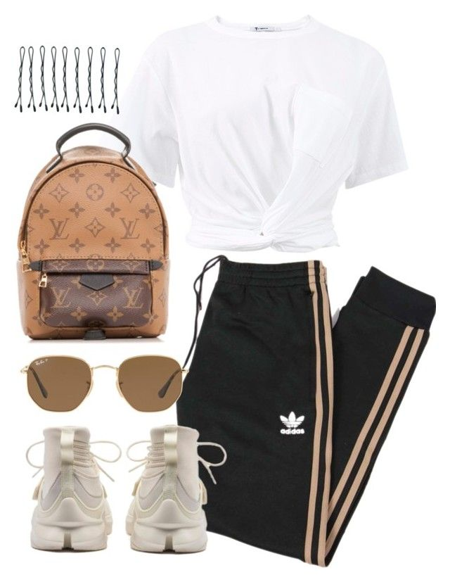 """Untitled #4429"" by theeuropeancloset on Polyvore featuring adidas Originals, Puma, T By Alexander Wang, Louis Vuitton, Ray-Ban and BOBBY"