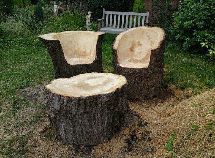17 best images about tree stump furniture on pinterest for Stump furniture making