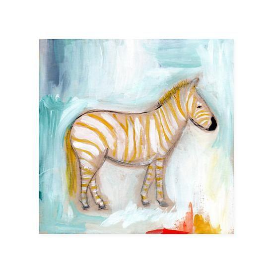 Wild Watercolor Canvas Wall Art (Zebra)    The Land of Nod