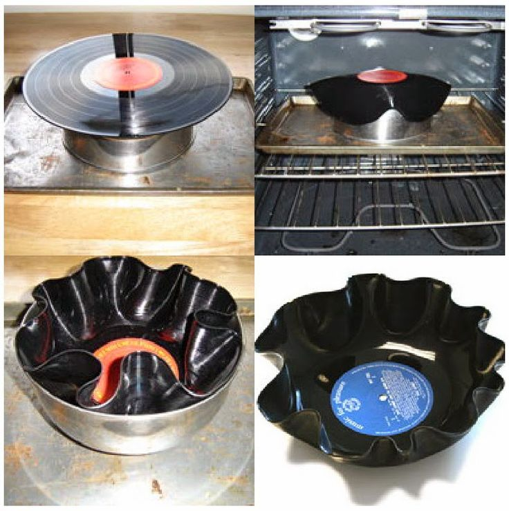 Decoração com Discos de Vinil   Beauty Rock