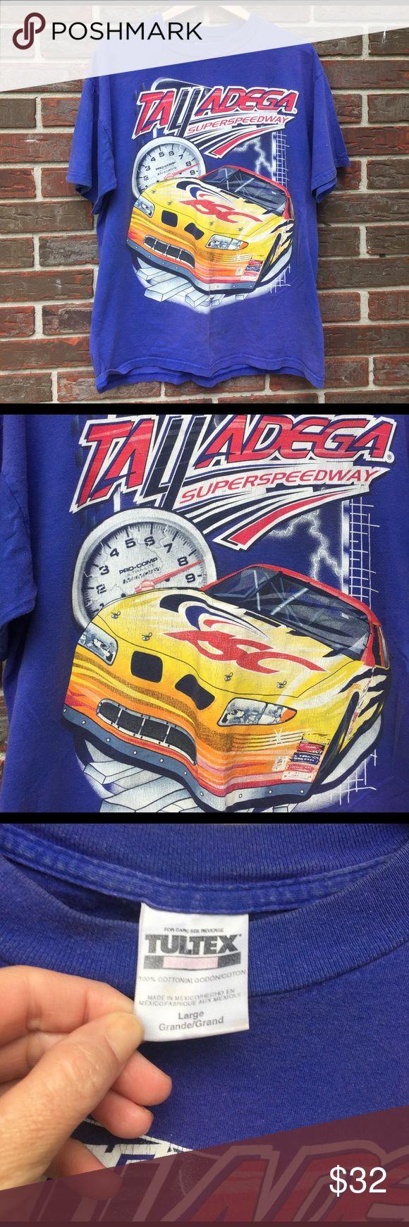 🏁 Vintage Talladega Super speedway NASCAR shirt Faded indigo color. Men's size large. Still in good condition! 2000 Talladega Super speedway NASCAR shirt. Great collectors item for race fan 🏁 Vintage Shirts Tees - Short Sleeve