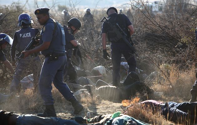 Marikana: A year on | A murder and attempted murder docket were opened following the shooting of 34 people at Lonmin's Marikana mine. Photo: Alon Skuy