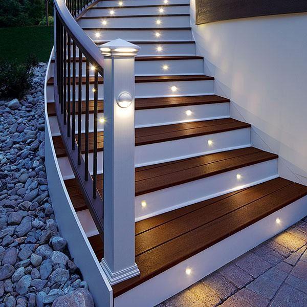 Led Rail Light By Trex Deck Lighting Charcoal Black