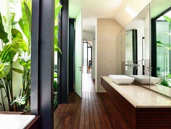 Exemples des idées de design d'intérieur de l'appareil de pliage plantes bains conservatoires plancher