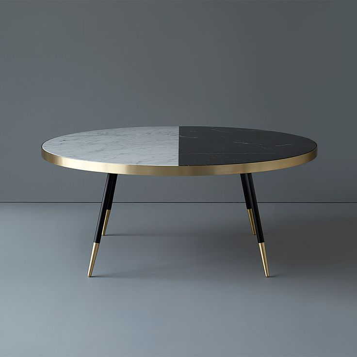 bethan grayu0027s marble band tables are edged in brushed brass