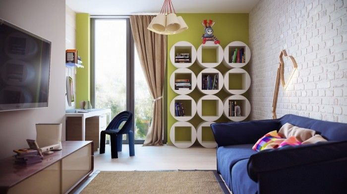 colorful modern childrens room