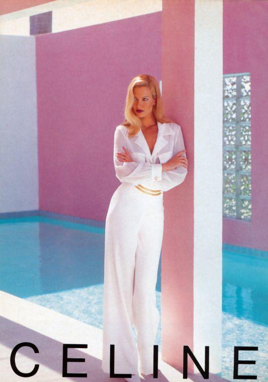 Karen Mulder for Celine (mid 90s)