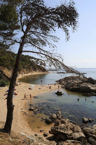 Cala Estreta, Cap Roig (near-Calella-de-Palafrugell) Costa Brava Catalonia.