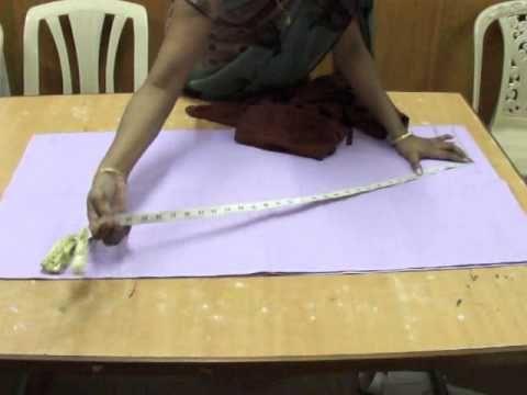 Salwar cutting -- easy method. - YouTube