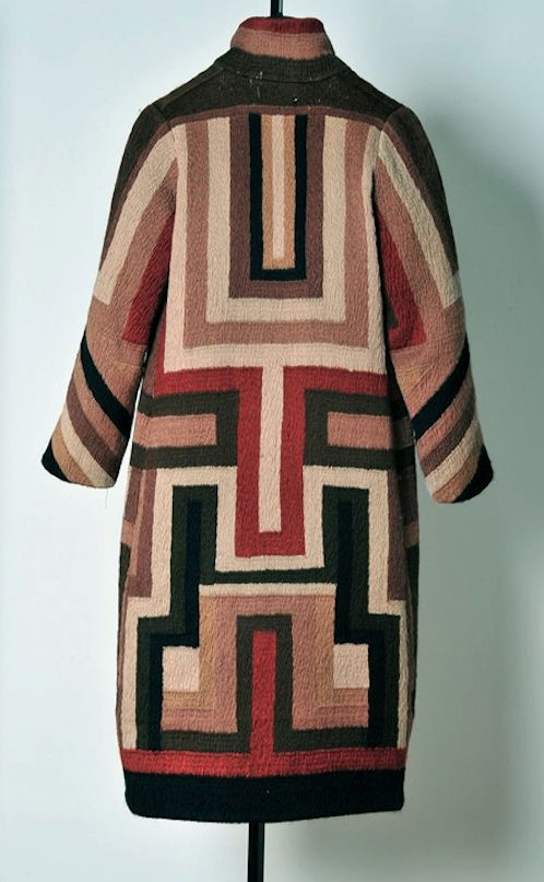 Coat made for Gloria Swanson by Sonia Delaunay, 1923-24, Private collection.