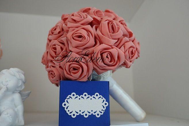 Букет невесты с большими розами. Цвет чайной розы. Купить или заказать букет невесты можно в Нарве. Доставка по всей Эстонии Информация: + 372 53 815 356