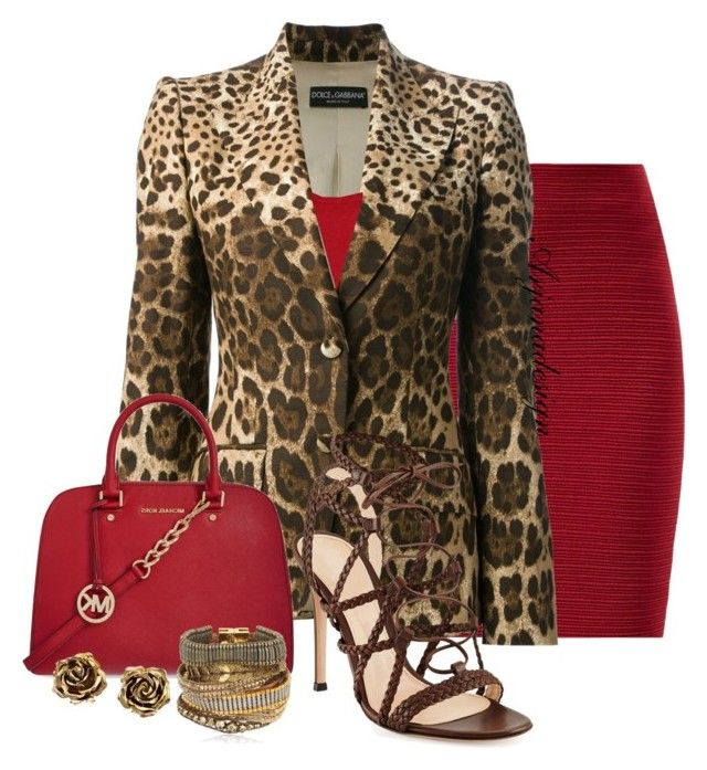 how to wear red with animal print