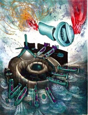 ROBERTO MATTA http://www.widewalls.ch/artist/roberto-matta/   #abstractexpressionism  #surrealism