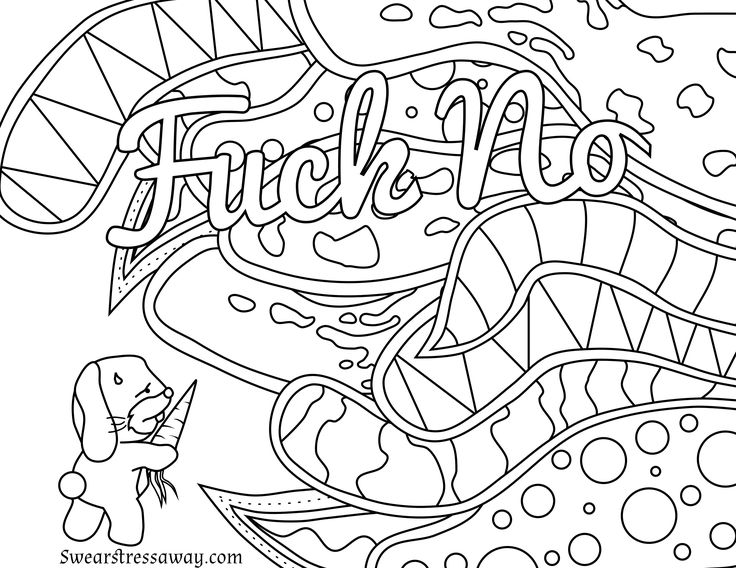 156 best Swear Word Coloring Pages images on Pinterest Coloring