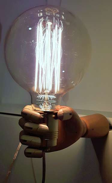 Wood, metal, light.. Now go create!