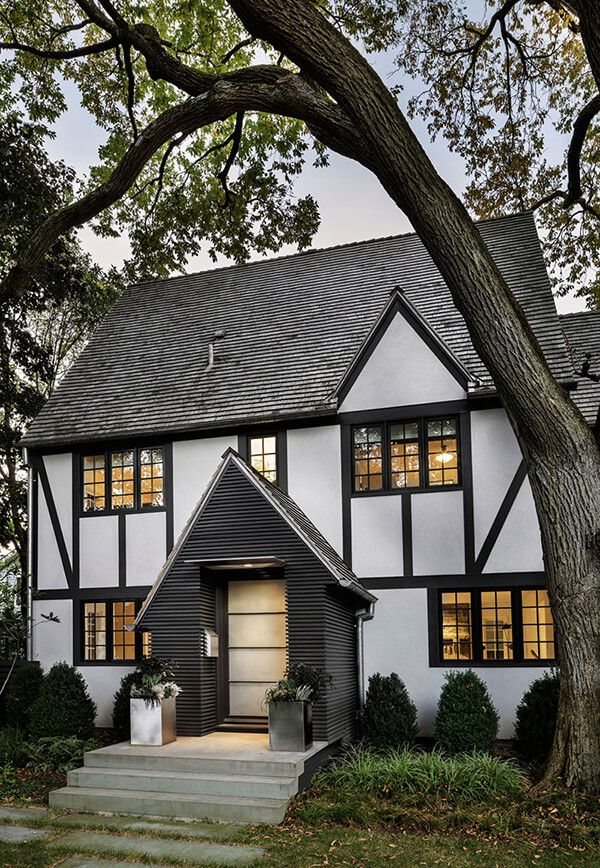 Unique Tudor Style Residence With A Modern Addition In Rye New