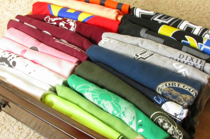 How to Fold and Organize Your T-Shirts
