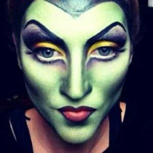 it's not easy being green  halloween makeup witch scary