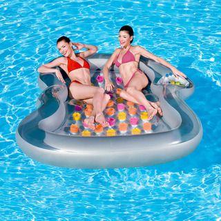 #osummer Double Designer Inflatable Pool Lounge Float