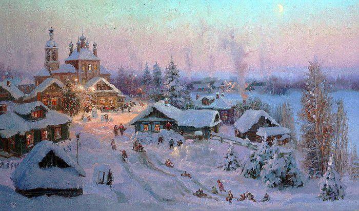 зимние пейзажи Владимира Жданова – 26