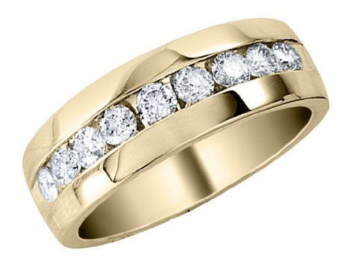 Mens Diamond Wedding Band 1/2 Carat (ctw) in 14K Yellow Gold MyJewelryBox. $995.00. If you are not completely satisfied, you can return any order for refund or exchange within 30 days from the date of shipment - shop with confidence!. Free Signature MyJewelryBox Gift Box