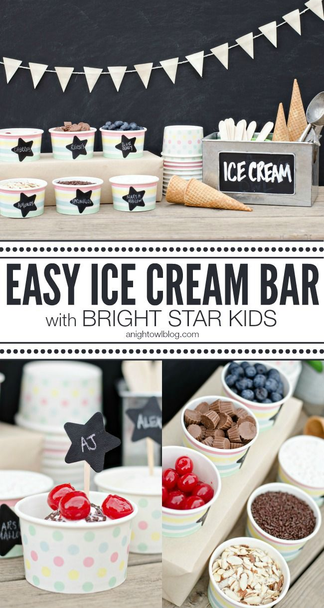 You can set up this easy Ice Cream Bar in just minutes!