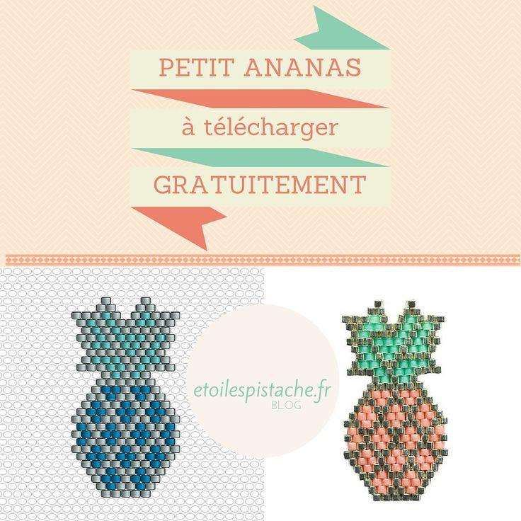 """Diagramme """"petit Ananas"""" brickstitch gratuit pour reproduction à titre privé (pas de commercialisation). (c) Des Etoiles à la Pistache."""