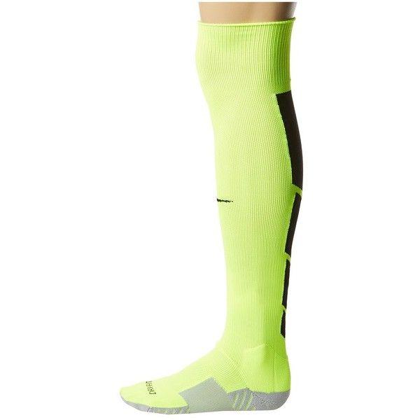 Nike Stadium Soccer Over The Calf Knee High Socks ($18) ❤ liked on Polyvore featuring intimates, hosiery, socks, logo socks, wicking socks, knee socks, nike and moisture wicking socks