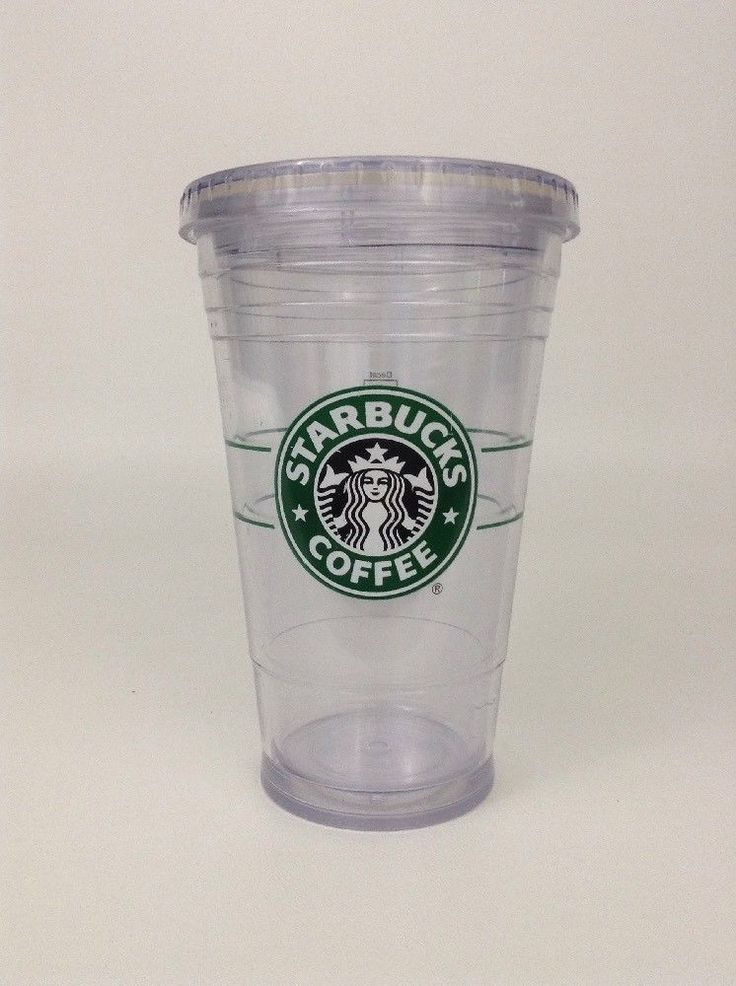 Starbucks Coffee Plastic Double Wall 16 Oz Tumbler Straw Drink Cup Reusable