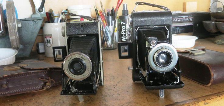 2 Cameras for sale KODAK no 1 Diomatic and AGFA ANSCO folding cameras
