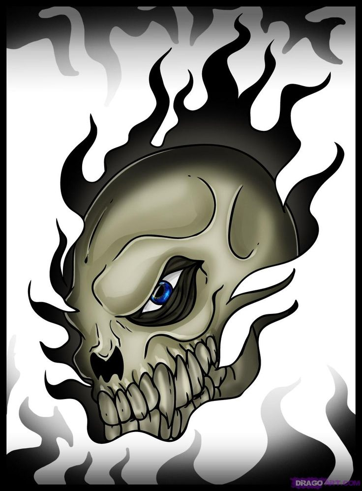 Cool+Skull+Drawings | Cool Skull, Step by Step, Skulls, Pop Culture, FREE Online Drawing ...
