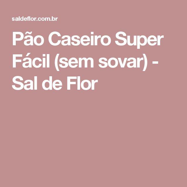 Pão Caseiro Super Fácil (sem sovar) - Sal de Flor