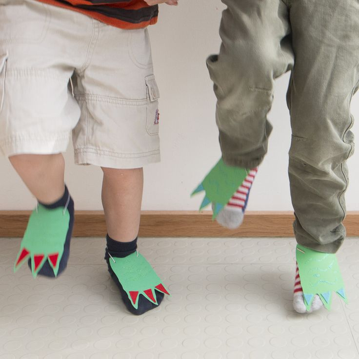 Make your own Dinosaur Feet craft activity from Cotton Twist. A refreshing alternative to plastic tat in party bags. Original, imaginative, crafty and fun. www.cottontwist.co.uk