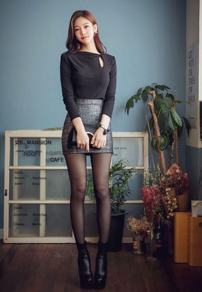 검은스타킹 매력적인 피팅모델 검정스타킹 각선미 모음 | Phụ nữ