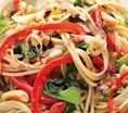 Hot-and-Sour Peanutty Noodles With Bok Choy: Recipes: Self.com : Traditional Asian meals tend to be full of veggies, and this one won't disappoint. Also, peanuts provide protein and off-the-chart levels of resveratrol, the same heart-smart compound found in red wine. via @Sara Self Magazine